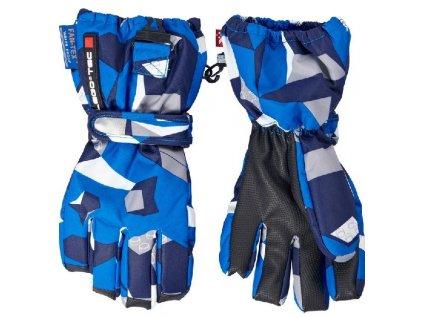 Kvalitní dětské zimní nepromokavé rukavice prstové LEGO® Wear Alexa 772 v modré barvě