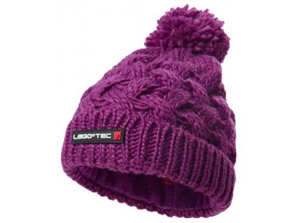 Dětská zimní pletená čepice LEGO® Wear Ayan 773 světle fialová