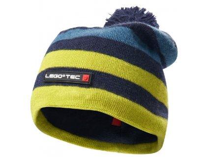 Kvalitní dětská zimní čepice s bambulí LEGO® Wear Ayan 778 v žluto-modré barvě