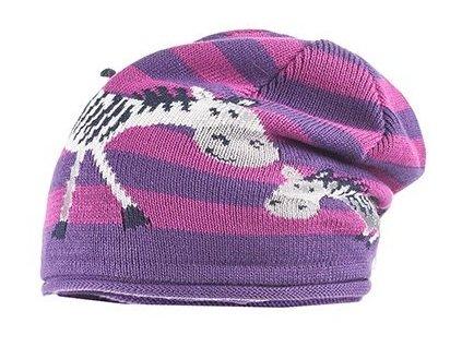 Dětská pletená čepice Maximo zebry