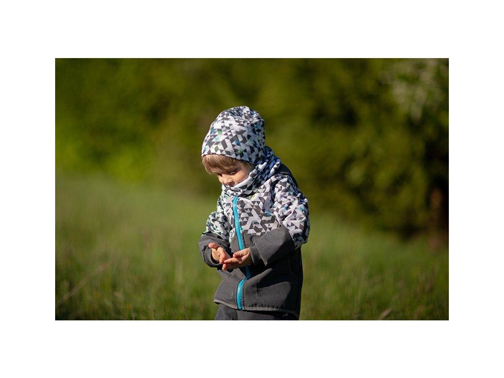 Unuo, Dětský nákrčník z fleecu, Metricon kluk