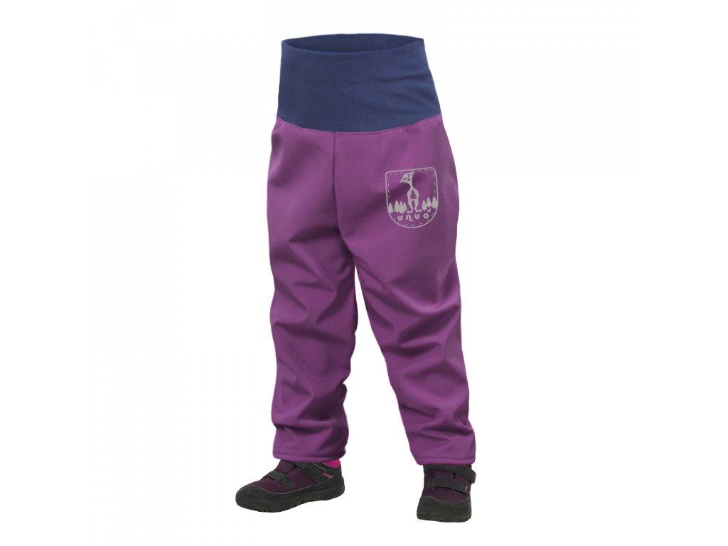 Unuo, Batolecí softshellové kalhoty s fleecem, Ostružinová