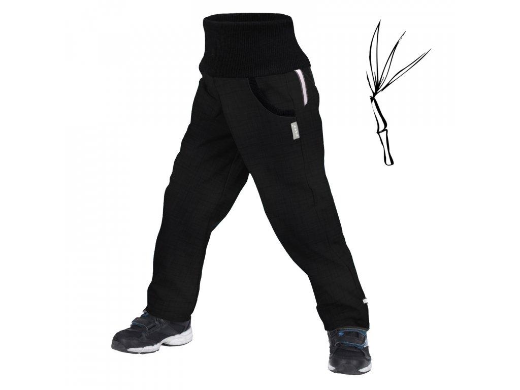 Unuo, Dětské softshellové kalhoty s bambusovým úpletem Street, Černá Velikost: 98/104