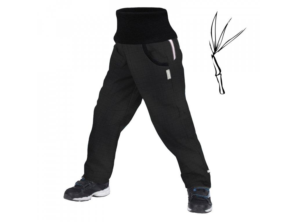 Unuo, Dětské softshellové kalhoty s bambusovým úpletem Street, Tm. Šedá Velikost: 98/104