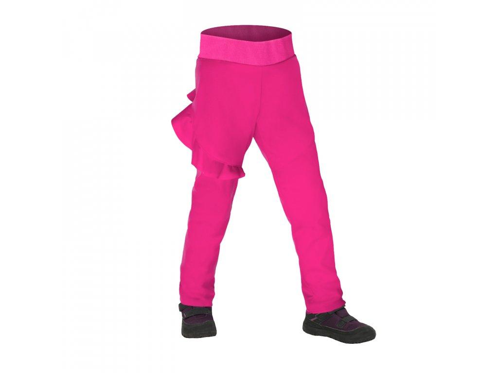 Unuo, Batolecí softshellové kalhoty s fleecem pružné Fantasy, Fuchsiová Velikost: 92/98