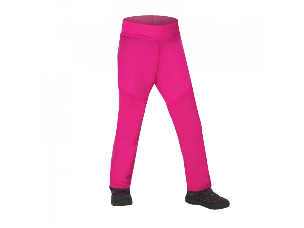 Unuo, Batolecí softshellové kalhoty s fleecem pružné Sporty, Fuchsiová Velikost: 92/98