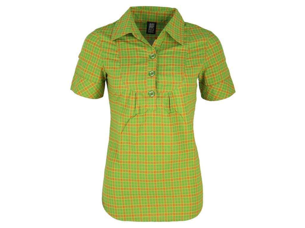 Dámská košile Rejoice - Apricot (zeleno-oranžová) (Velikost XS)