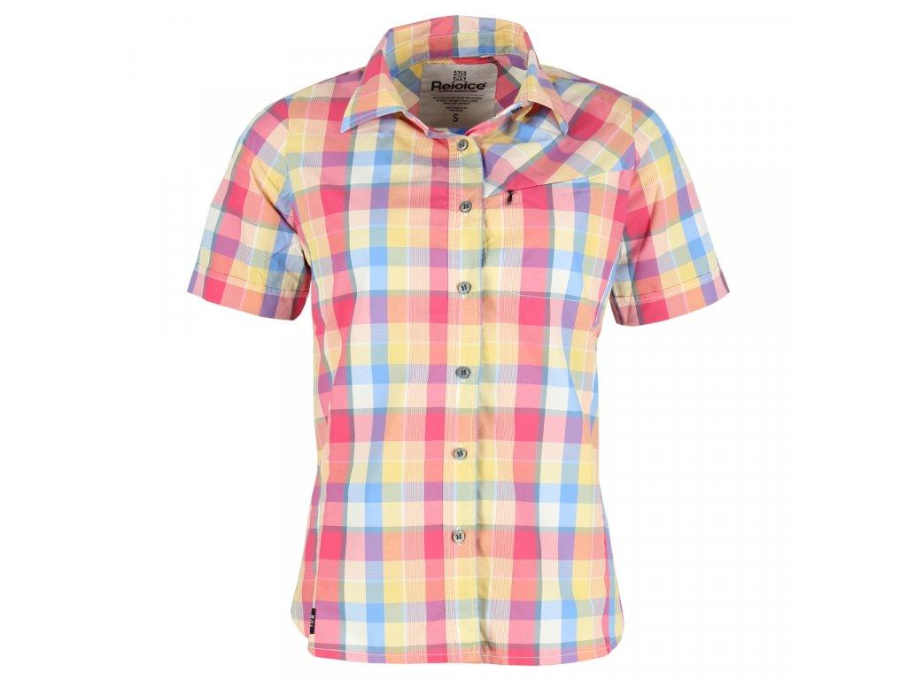Dámská košile Rejoice - Ginkgo (růžovo-modrá) (Velikost XL)