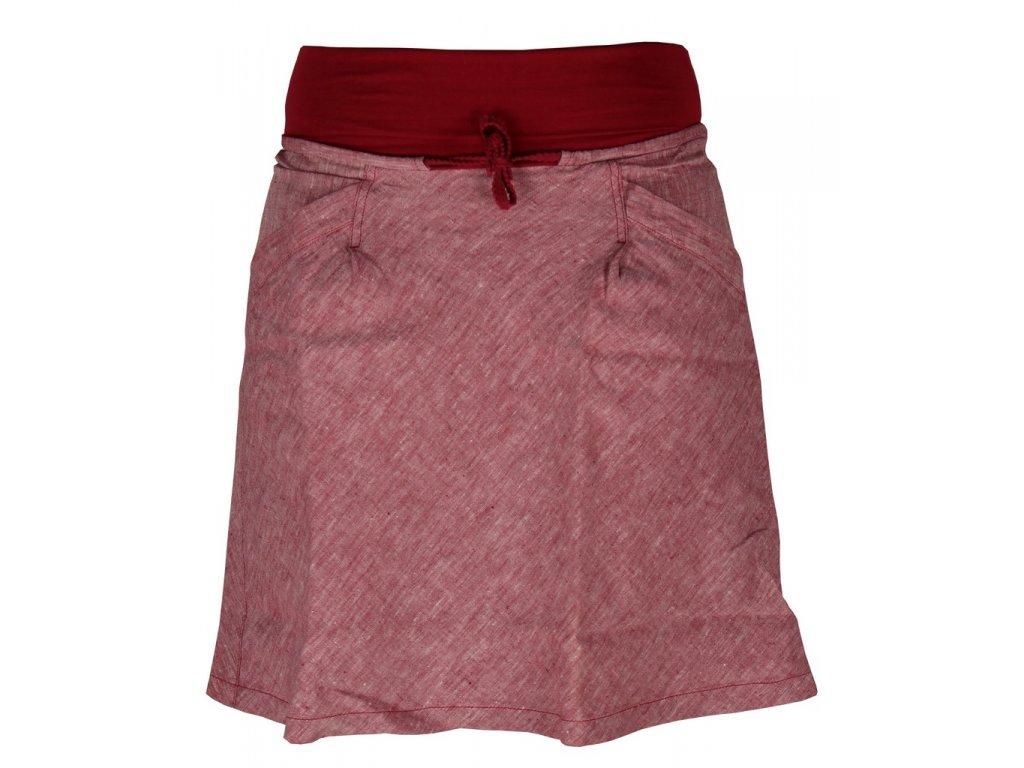 Dámská lněná sukně Rejoice -  Urtica skirt (červená) (Velikost XS)