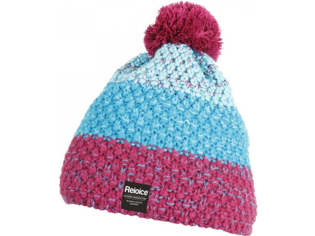 Dámská pletená čepice Rejoice - Lapsana (růžovo-modrá)