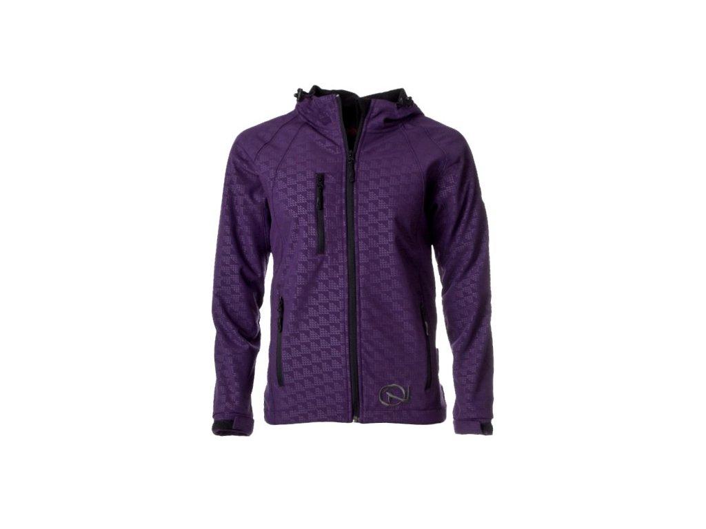 Dámská softshellová bunda Crackonosh - Sagge Purple (Velikost XL)