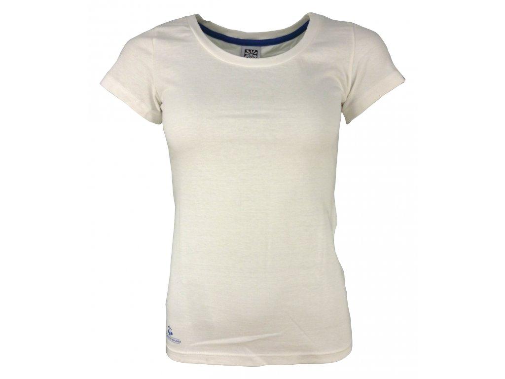 Dámské bavlněné tričko Rejoice - Gentiana Women (bílé) (Velikost XS)