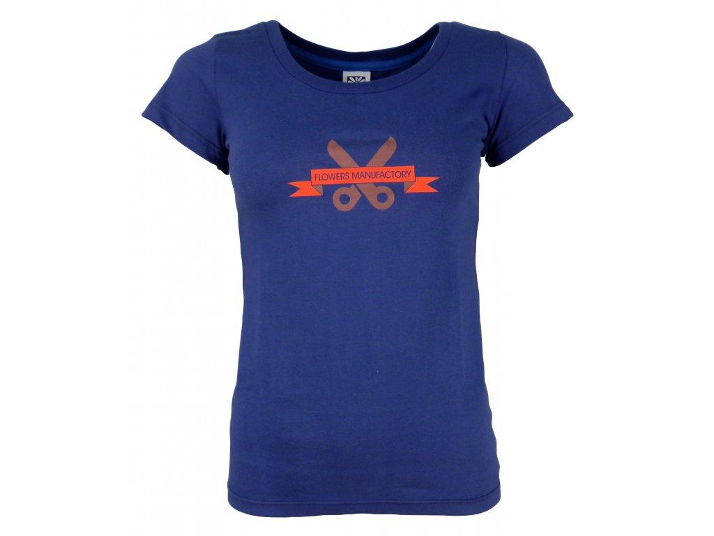 Dámské bavlněné tričko Rejoice - Gentiana Women (modré) (Velikost XS)