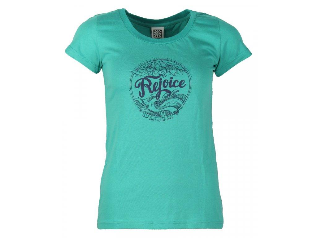 Dámské bavlněné tričko Rejoice - Gentiana Women (zelené) (Velikost XS)