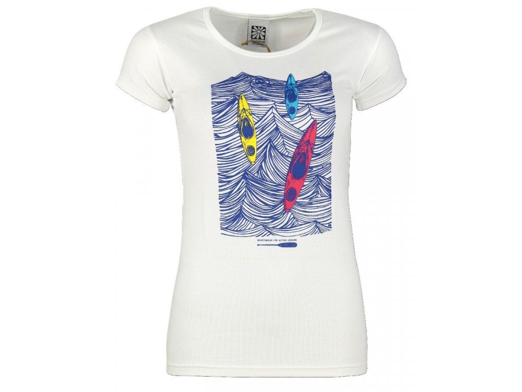 Dámské elastické tričko Rejoice - Rose (bílé) (Velikost XS)