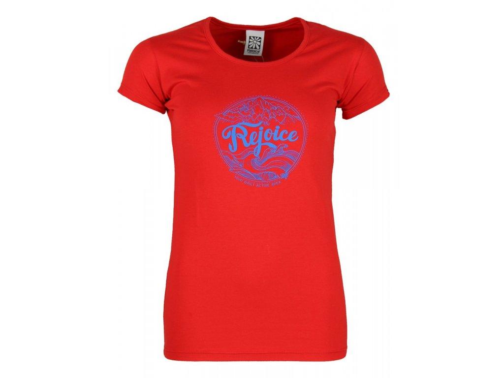 Dámské elastické tričko Rejoice - Rose (červené) (Velikost XS)