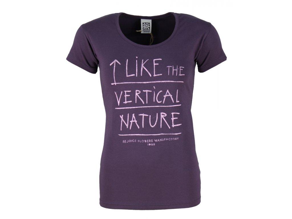 Dámské elastické tričko Rejoice - Rose (fialové) (Velikost XS)