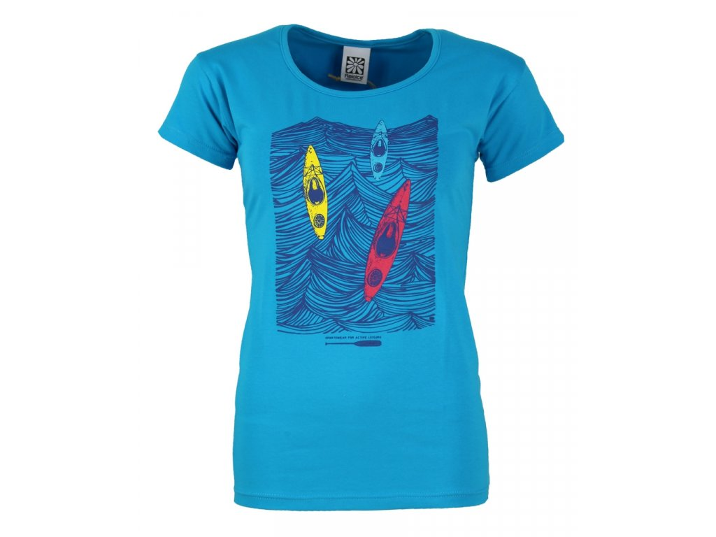 Dámské elastické tričko Rejoice - Rose (modré) (Velikost XS)
