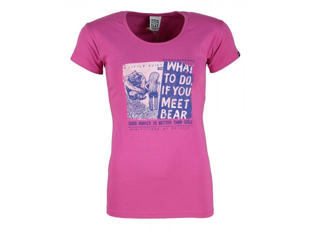 Dámské elastické tričko Rejoice - Rose (růžové) (Velikost XS)