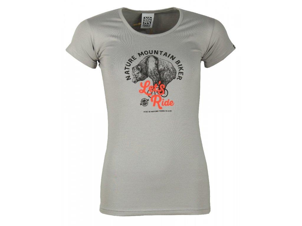 Dámské elastické tričko Rejoice - Rose (šedé) (Velikost XS)