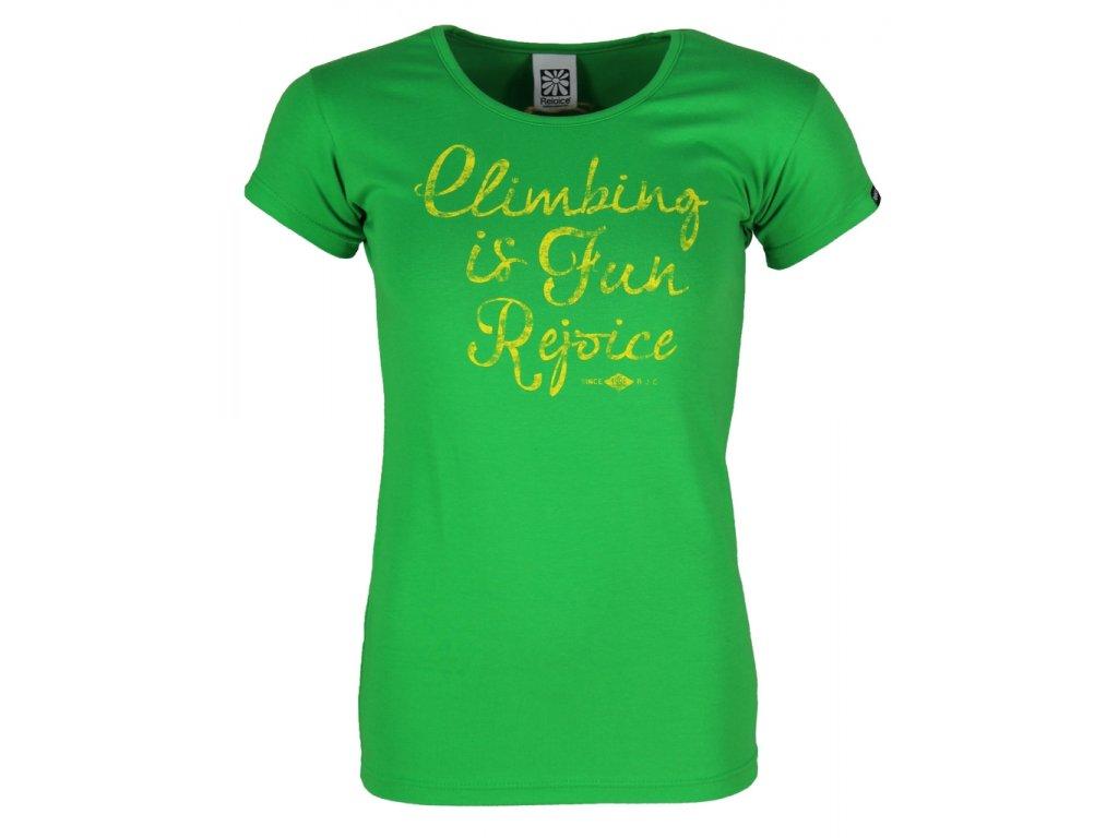 Dámské elastické tričko Rejoice - Rose (zelené) (Velikost XL)