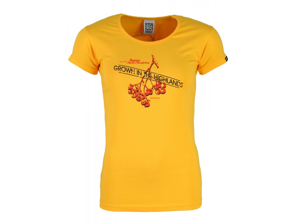 Dámské elastické tričko Rejoice - Rose (žluté) (Velikost XS)