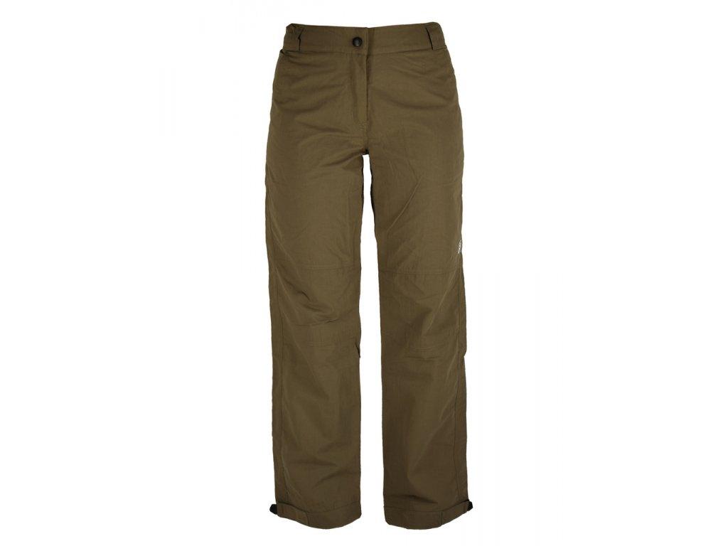Dámské kalhoty Rejoice - Cranberry (khaki) (Velikost XS)