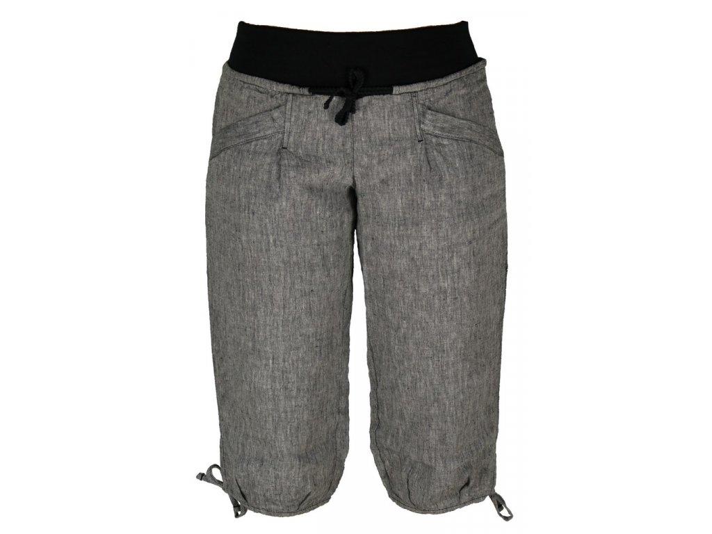 Dámské lněné 3/4 kalhoty Rejoice -  Urtica 3/4 (černé) (Velikost XS)