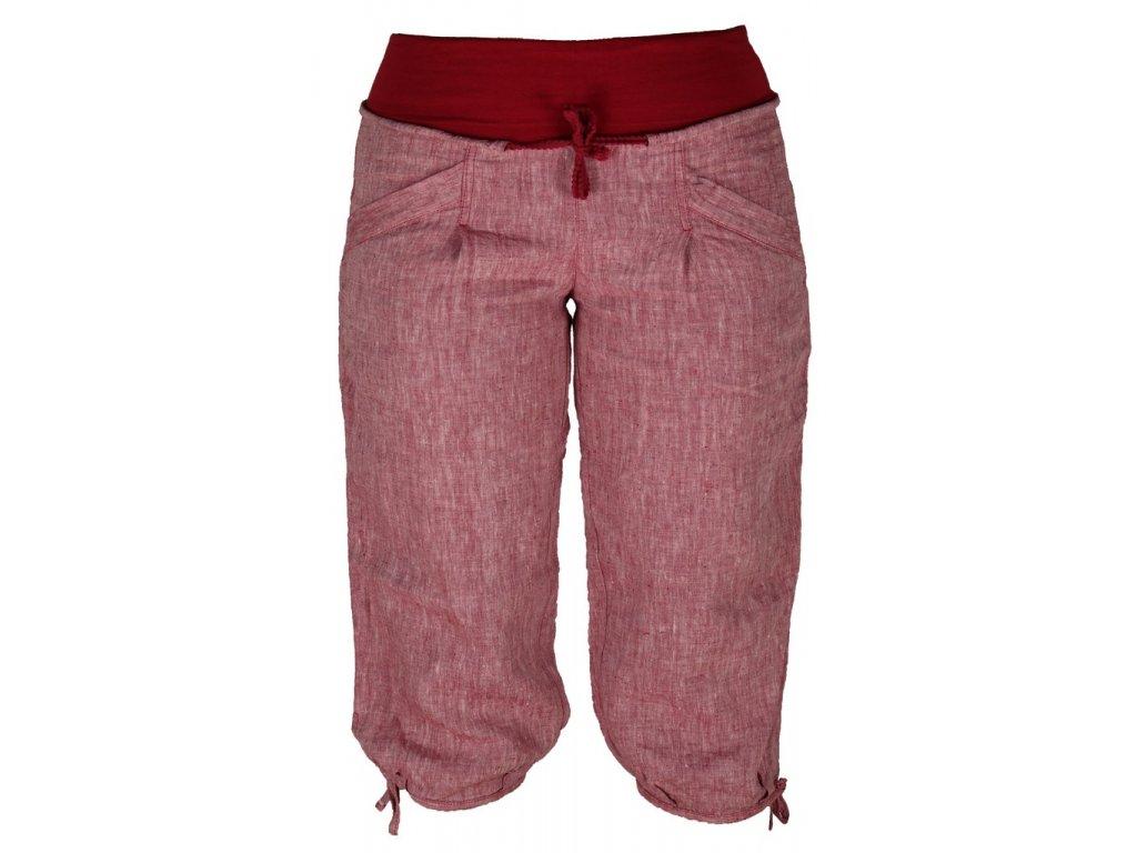 Dámské lněné 3/4 kalhoty Rejoice -  Urtica 3/4 (červené) (Velikost XS)