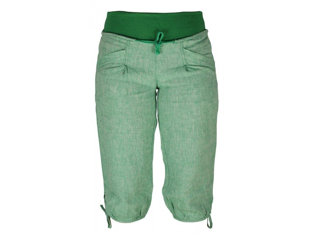 Dámské lněné 3/4 kalhoty Rejoice -  Urtica 3/4 (zelené) (Velikost XS)