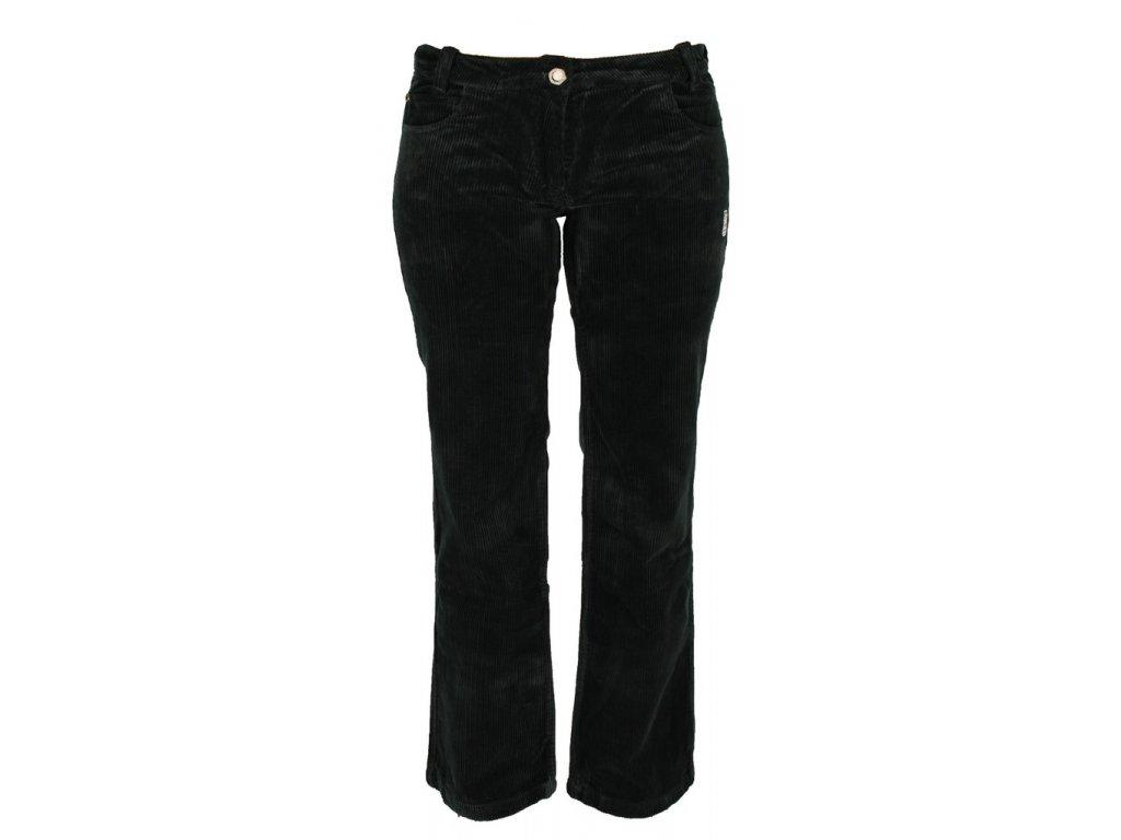 Dámské manšestrové kalhoty Rejoice - Dessert Cherry (černé) (Velikost XXL)