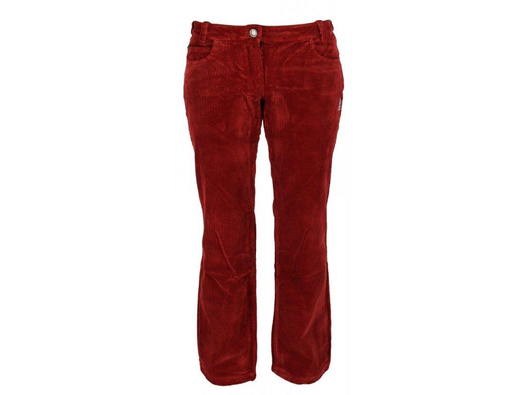Dámské manšestrové kalhoty Rejoice - Dessert Cherry (červené) (Velikost XXL)