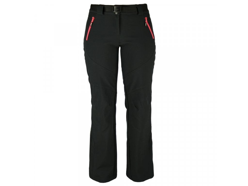 Dámské softshellové kalhoty Rejoice -  Primula (černé) (Velikost XS)