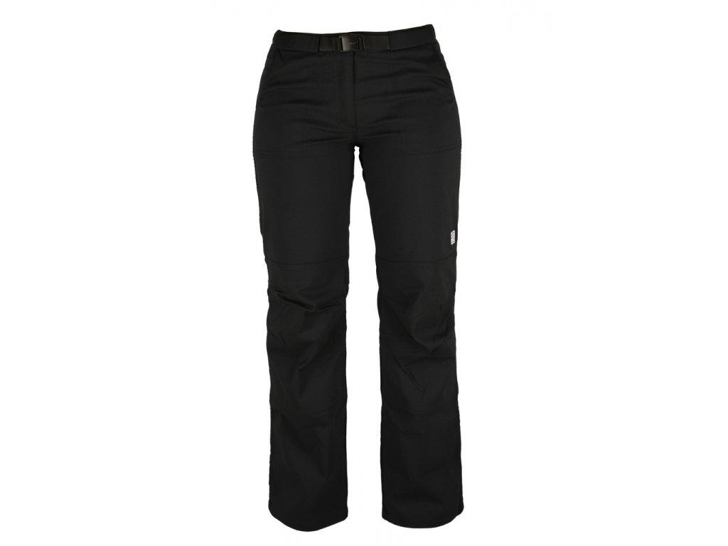 Dámské strečové kalhoty Rejoice - Peppermint (černé) (Velikost XL)