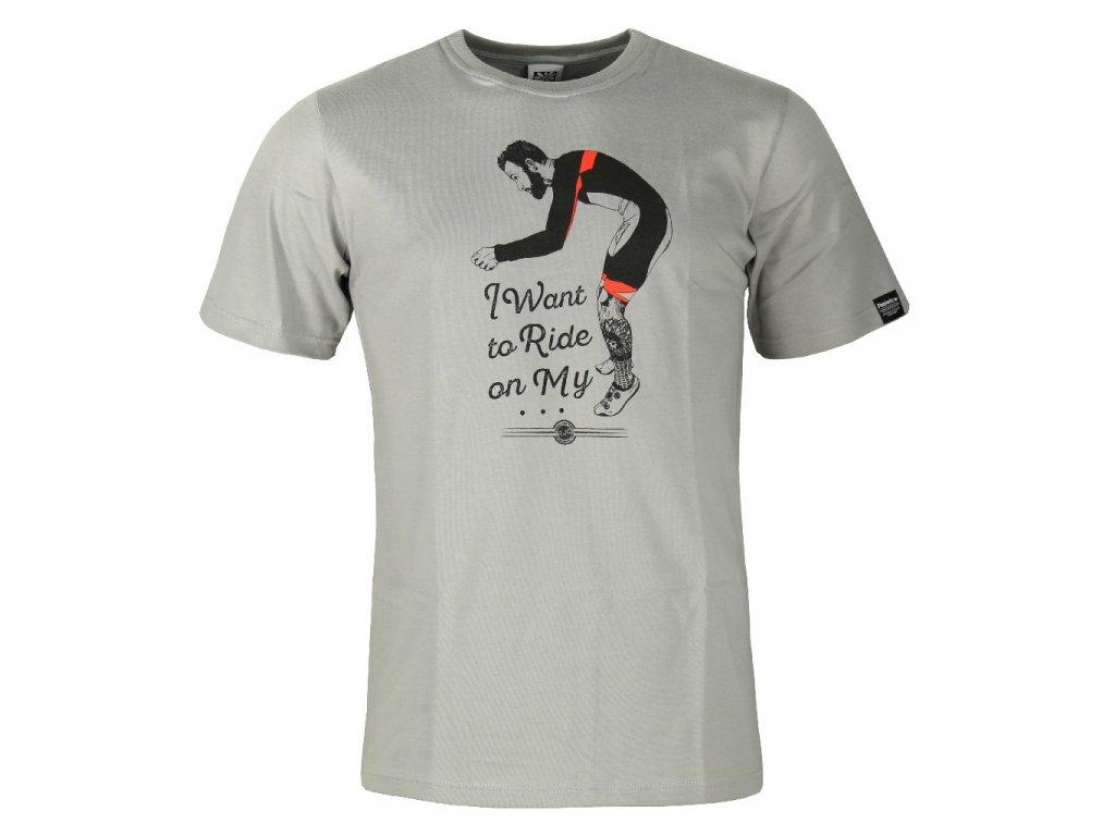 Pánské bavlněné tričko Rejoice - Gentiana Men (šedé) (Velikost XXXL)