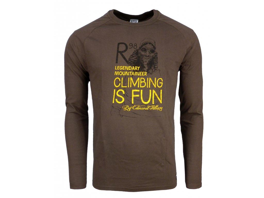 Pánské bavlněné tričko s dlouhým rukáve Rejoice - Lamium (hnědé) (Velikost  XXL) bd0b8a656f