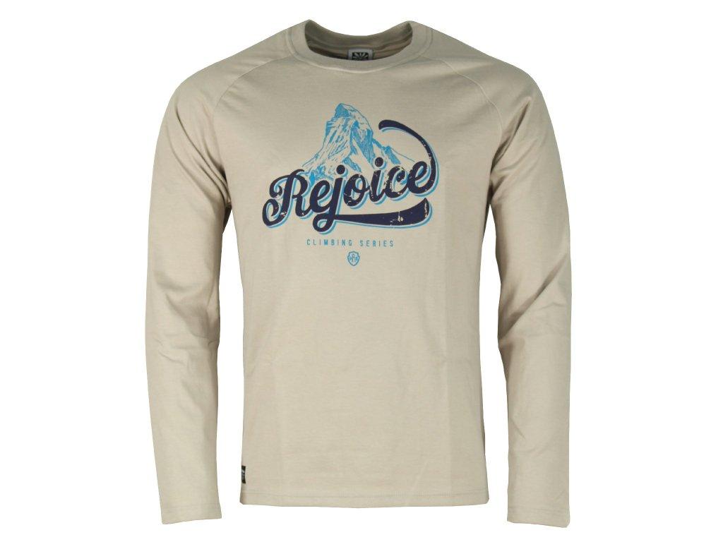 Pánské bavlněné tričko s dlouhým rukávem Rejoice - Lamium (šedé ... 932bd4a313