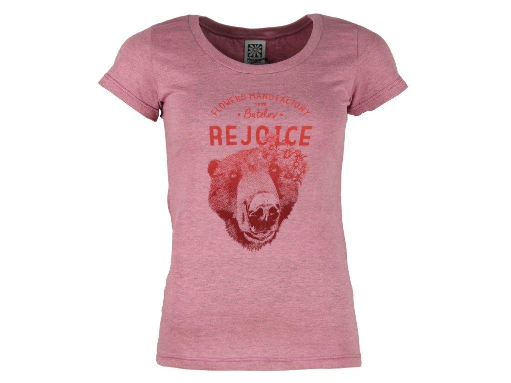 184fa79a772 Dámské bavlněné tričko Rejoice - Gentiana Women (růžové) - Outdooria.cz