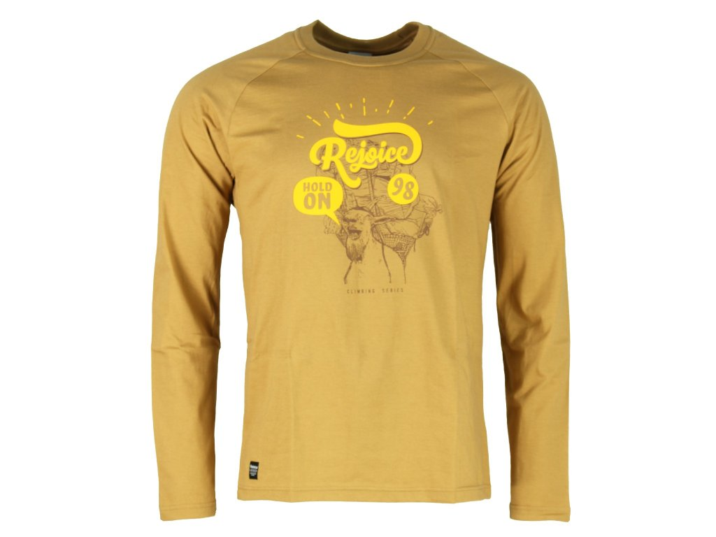 Pánské bavlněné tričko s dlouhým rukávem Rejoice - Lamium (žluté ... 416cd0cd40