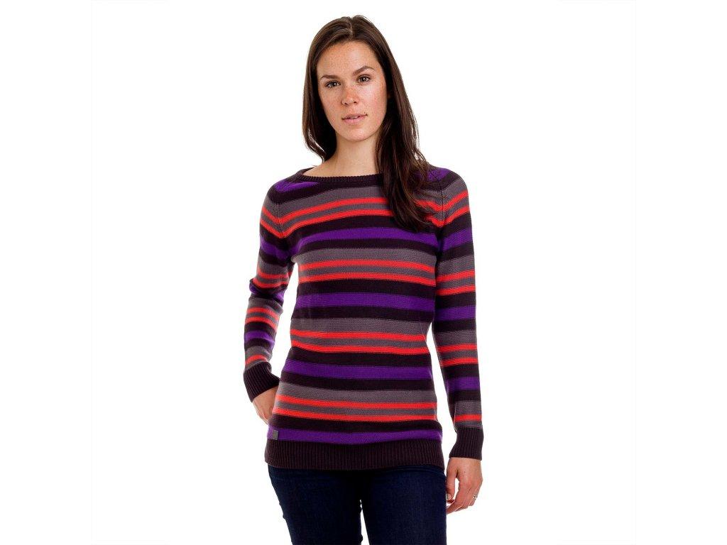 Dámský svetr Woox - Stripy Ladies´ Jumper Black