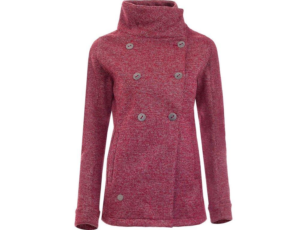 Dámský wooltshellový kabát Woox - Vellon Concha Merlot Chica