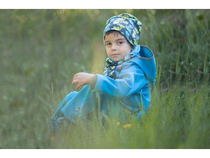 Unuo, Dětská čepice fleecová spadená, Souhvězdí medvěda kluk Velikost: S (45 - 48 cm)