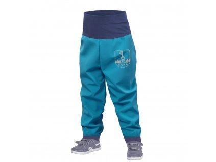 Unuo, Batolecí softshellové kalhoty bez zateplení, Modrozelená Aqua