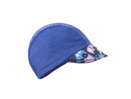 unuo Funkční čepice s kšiltem UV 50+ Autíčka,tm. modrá (uv cap,cars,dark blue)