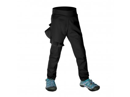 Unuo, Batolecí softshellové kalhoty bez zateplení pružné Fantasy, Černá Velikost: 92/98