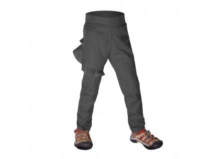 Unuo, Batolecí softshellové kalhoty bez zateplení pružné Fantasy, Tm. Šedá Velikost: 92/98