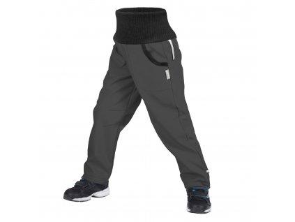 Unuo, Dětské softshellové kalhoty s fleecem Street, Tm. Šedá Velikost: 104/110