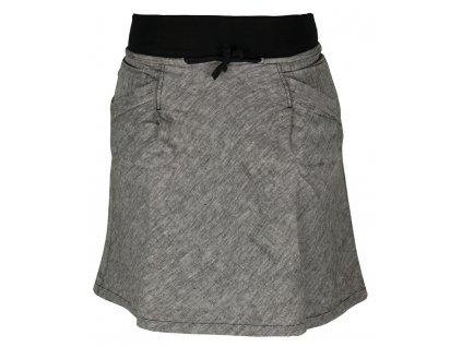 Dámská lněná sukně Rejoice -  Urtica skirt (černá) (Velikost XS)