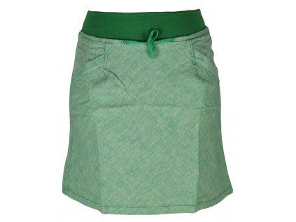 Dámská lněná sukně Rejoice -  Urtica skirt (zelená) (Velikost XS)