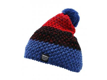 Dámská pletená čepice Rejoice - Lapsana (červeno-modrá)